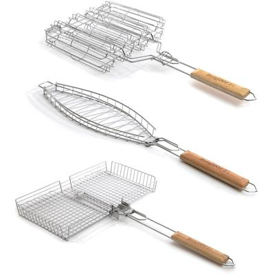 Grill Basket 3-Piece Set