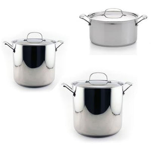 6-Piece Stainless Steel Stockpot Set