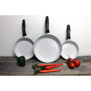 3-Piece Ceramic Cookware Set