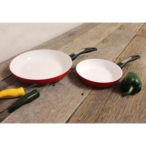 Ceramic Non-Stick 2-Piece Frying Pan Set