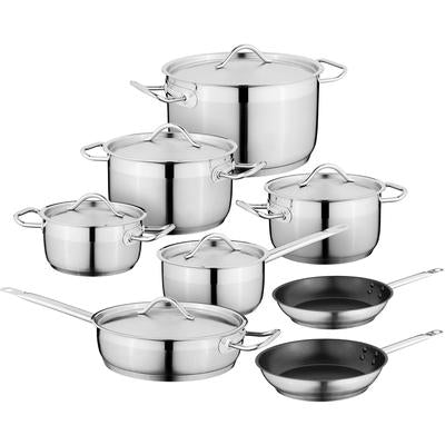 Hotel Essential 18/10 Stainless Steel 14-Piece Cookware Set