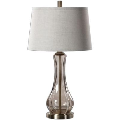 Cynthiana Smoke Gray Glass Lamp