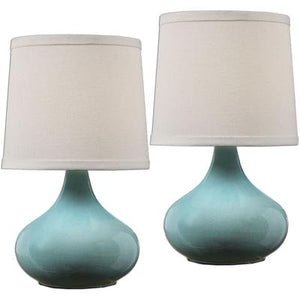 Gabbiano Pale Blue Lamps - Set of 2