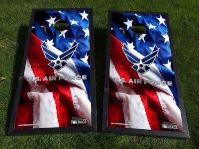 American Flag Air Force Cornhole Boards
