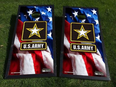 American Flag Army Cornhole Boards