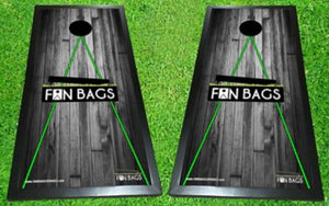 Wood Tournament Lines Cornhole Boards