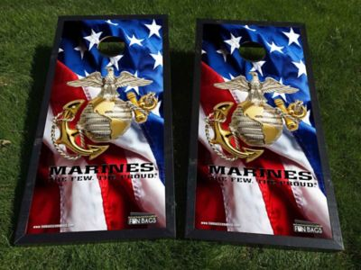 American Flag Marines Cornhole Boards