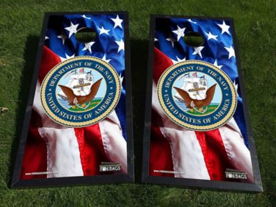 American Flag Navy Cornhole Boards