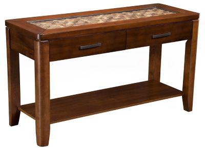 Granada Sofa Table with Glass Insert and Shelf