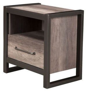 Monarch One Drawer Nightstand with Open Shelf