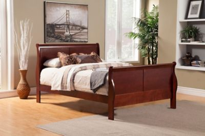 Louis Philippe II Queen Sleigh Bed
