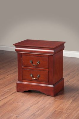 Louis Philippe II 2-Drawer Nightstand