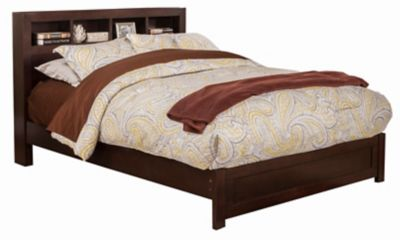 Solana Twin Platform Bed with Bookcase Headboard