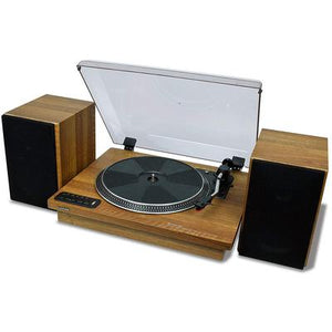 "Toshiba 12"" Turntable with Stereo Bookshelf Speakers"