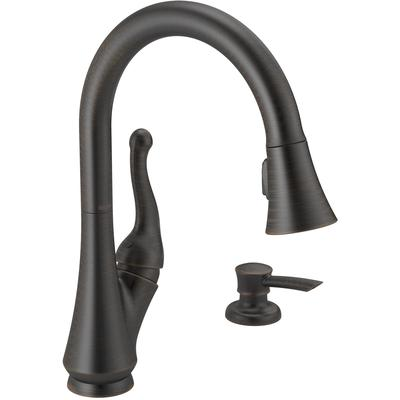 Talbott Single Handle Pull-Down Kitchen Faucet with Soap Dispenser - Venetian Bronze