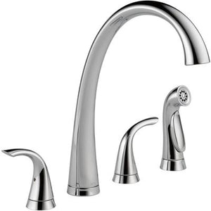 Pilar Two-Handle Widespread Kitchen Faucet with Spray - Chrome