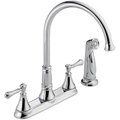 Cassidy Two-Handle Kitchen Faucet with Spray - Chrome