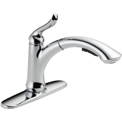 Linden Single Handle Pull-Out Kitchen Faucet - Chrome
