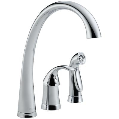 Pilar Single Handle Kitchen Faucet with Spray - Chrome