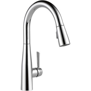 Essa Single Handle Pull-Down Kitchen Faucet - Chrome