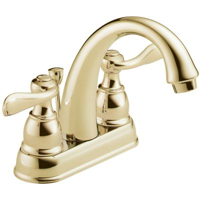 Windemere Two-Handle Centerset Bathroom Faucet - Polished Brass