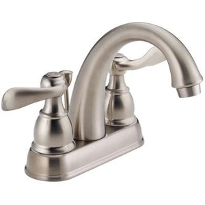 Windemere Two-Handle Centerset Bathroom Faucet - Stainless