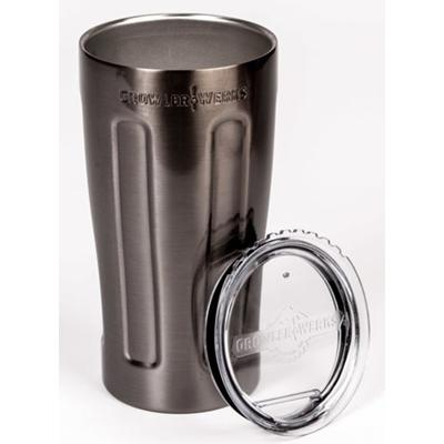 uPint Vacuum Insulated Pint for Craft Beer - Black Chrome