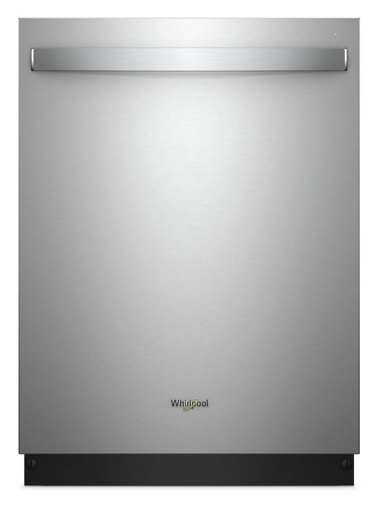 "Whirlpool 24"" Stainless Steel Tub Dishwasher with TotalCoverage Spray Arm"