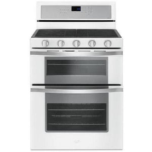 Whirlpool 6.0 cu. ft. Gas Double Oven Range with Center Oval Burner