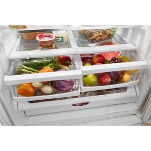 "Whirlpool 25 cu. ft. 36"" Wide French Door Refrigerator with Water Dispenser"