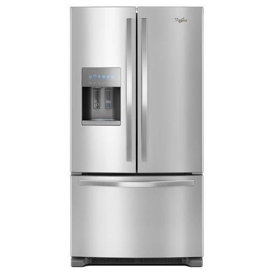 "Whirlpool 25 cu. ft. 36"" Wide French Door Refrigerator in Fingerprint-Resistant Stainless Steel"