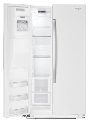 "Whirlpool 36"" Side-by-Side Counter Depth Refrigerator with StoreRight Dual Cooling System"