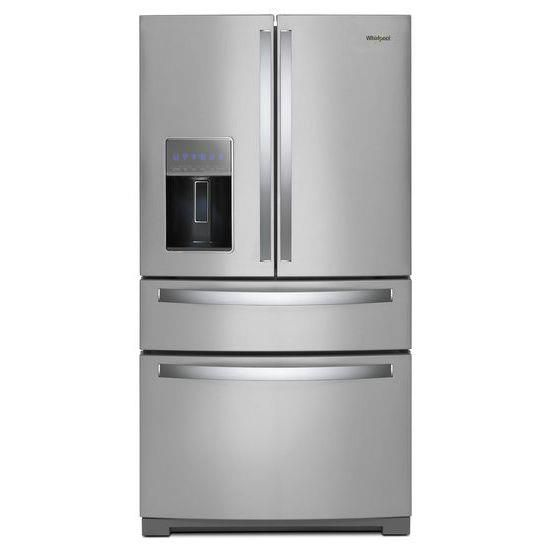 "Whirlpool 26 cu. ft. 36"" 4-Door Refrigerator with Exterior Drawer"