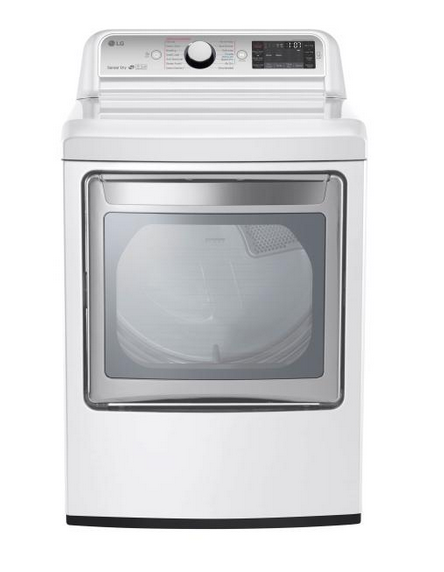 LG 7.3 Cu. Ft. 14-Cycle Gas Dryer with Steam - White