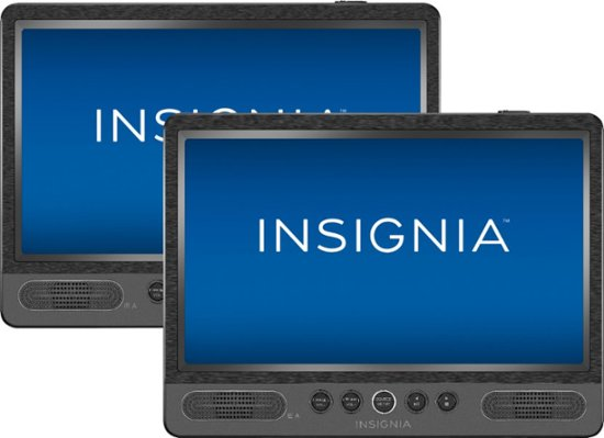 "Insignia 10"" Dual Screen Portable DVD Player"