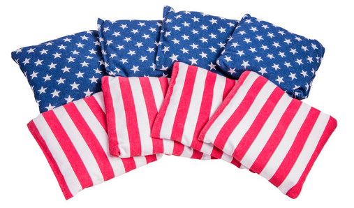 Patriotic Bean Bags - 8 Pack with Tub Container