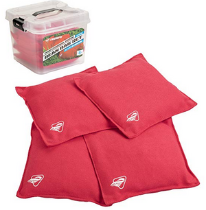 Bean Bags, 4-Pack 16oz Canvas Duck, Tub - Red