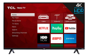 "TCL - 55"" LED 2160p Smart 4K UHD TV with Roku"