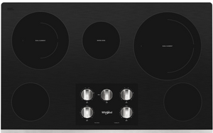 "Whirlpool 36"" Electric Cooktop with Two Dual Radiant Elements"