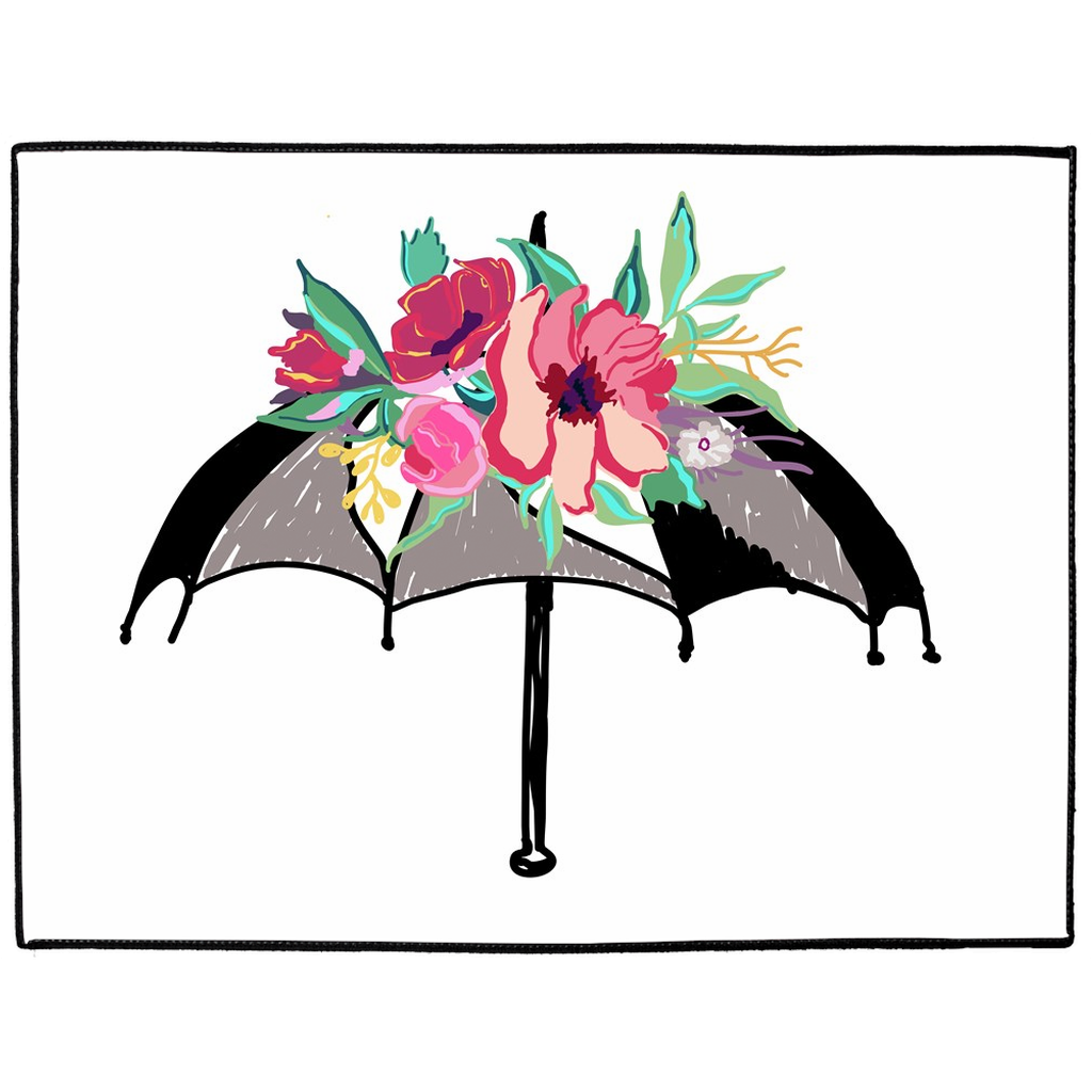 Flora Umbrella Indoor/Outdoor Floor Mats - Artski&Hush