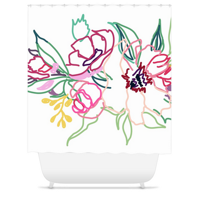 Spring Colorful Gathering Shower Curtain - Artski&Hush