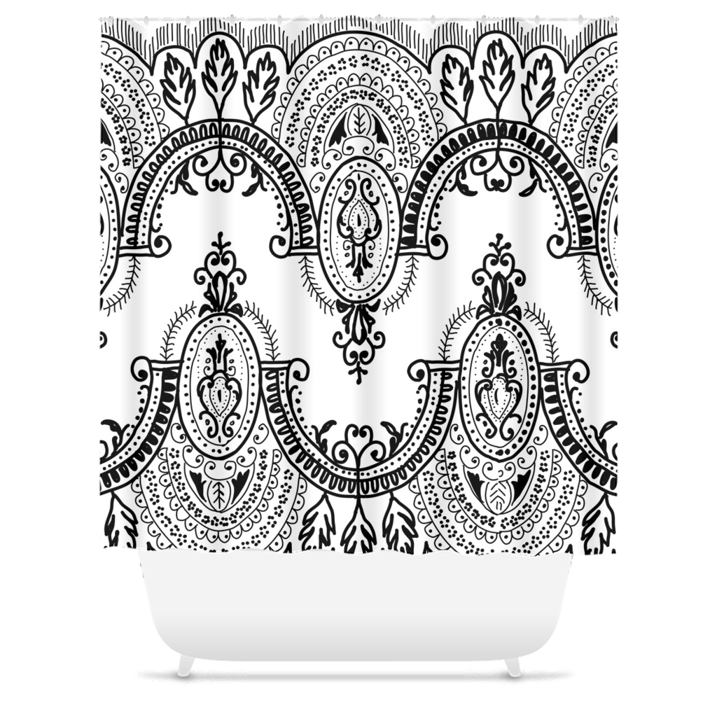 Arched Lace Shower Curtains - Artski&Hush