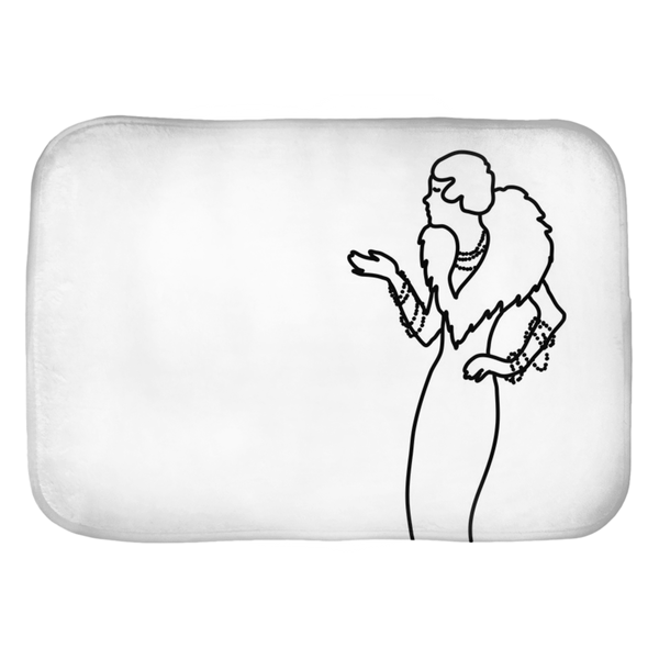 Art Deco Lady Pearls Bath Mats