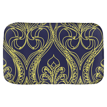 Load image into Gallery viewer, Navy Art Deco Lily Bath Mats - Artski&Hush