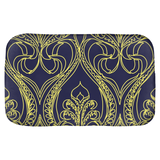 Navy Art Deco Lily Bath Mats