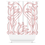 Art Deco Blush Flowers Shower Curtain
