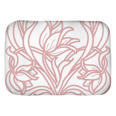 Art Deco Blush Flowers Bath Mats Love - Artski&Hush
