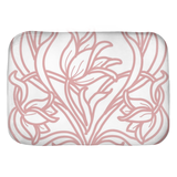 Art Deco Blush Flowers Bath Mats