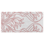 Art Deco Blush Flowers Bath Towel