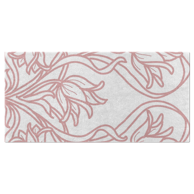 Art Deco Blush Flowers Bath Towel Love - Artski&Hush